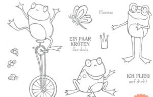 Stempelset Froschkönig