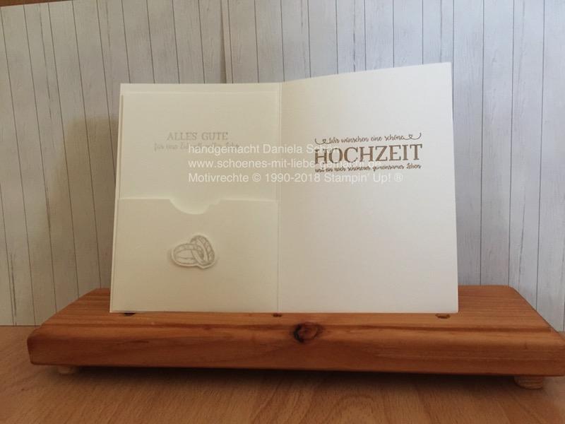 Hochzeitskarte Geldgeschenk (innen)