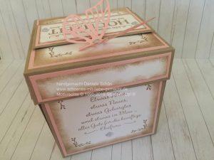 Explosionsbox Hochzeit Seite