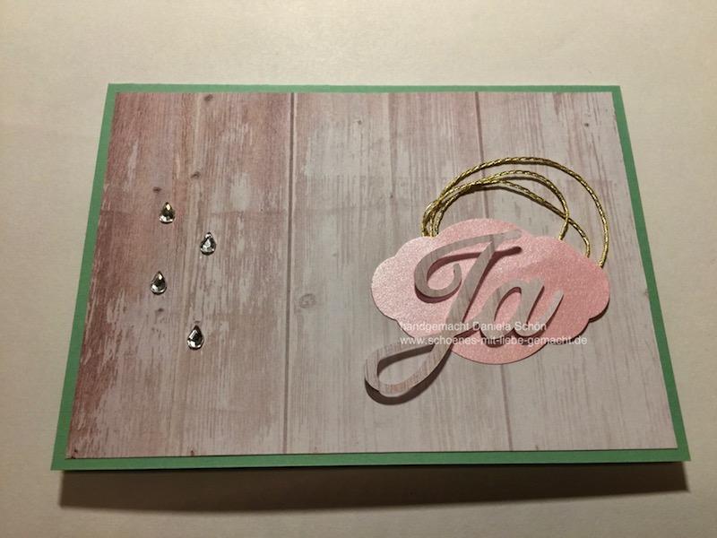 Hochzeitskarte Holzoptik