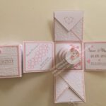 Explosionsbox rosa weiß Hochzeit