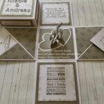 Explosionsbox grau Silber Hochzeit